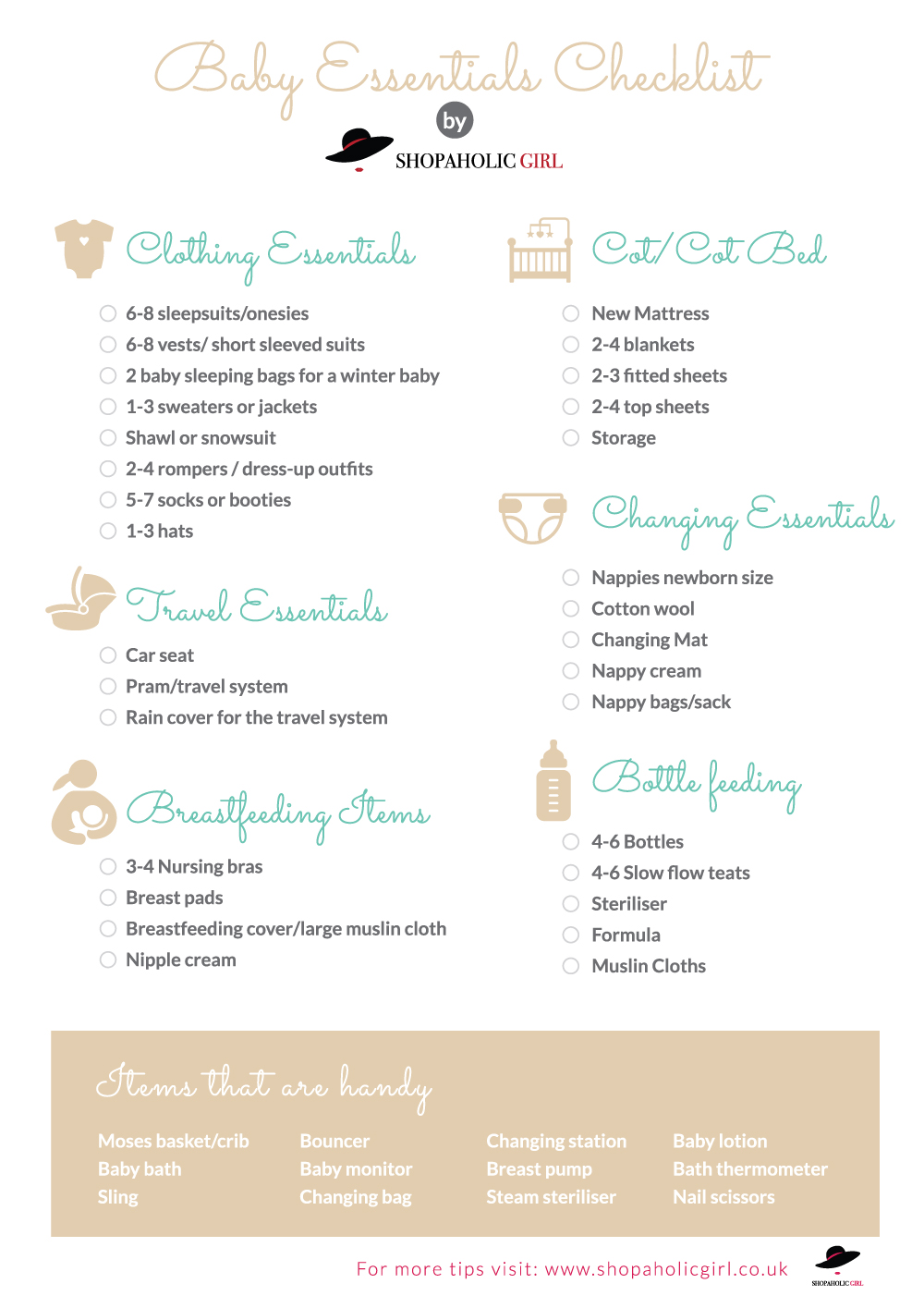 Baby Essentials New Baby Checklist What Do You Need